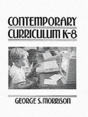Cover of: Contemporary curriculum k-8
