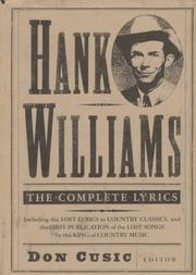 Cover of: Hank Williams