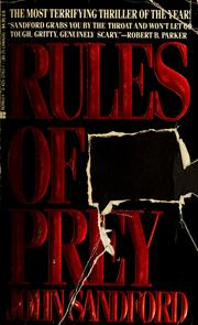 Cover of: Rules of prey