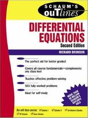 Cover of: Schaum's outline of theory and problems of differential equations
