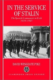 Cover of: In the service of Stalin