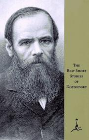 Cover of: The best short stories of Dostoevsky