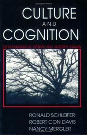 Cover of: Culture and cognition