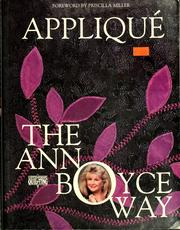 Cover of: Appliqué the Ann Boyce way