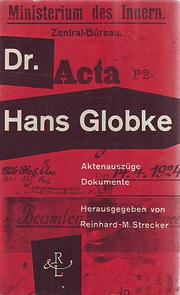 Cover of: Dr. Hans Globke