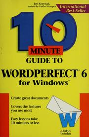 Cover of: 10 minute guide to WordPerfect 6 for Windows