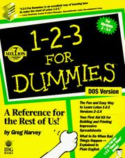 Cover of: 1-2-3 for dummies