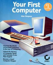 Cover of: Your first computer