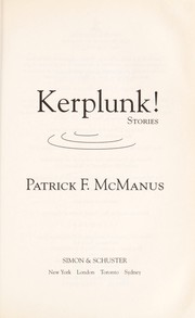 Cover of: Kerplunk!: Stories