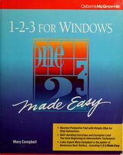 Cover of: 1-2-3 for Windows made easy