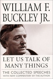 Cover of: Let us talk of many things: the collected speeches