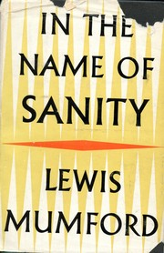 Cover of: In the name of sanity
