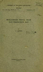 Cover of: Molluscan fauna from San Francisco Bay
