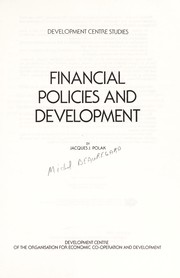 Cover of: Financial policies and development