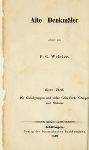 Cover of: Alte Denkmäler
