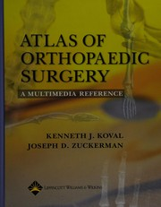 Cover of: Atlas of orthopaedic surgery