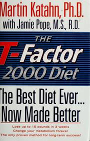 Cover of: The T-factor 2000 diet