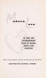 Cover of: Modern love