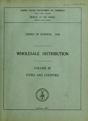 Cover of: Census of business: 1935