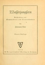 Cover of: Wasserjungfern