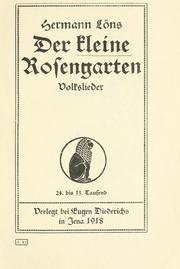 Cover of: Der kleine Rosengarten