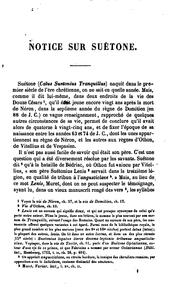 Cover of: Suétone