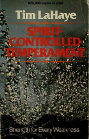 Cover of: Spirit-controlled temperament