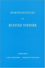 Cover of: Reminiscences of Rudolf Steiner