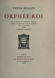 Cover of: Orphée-roi