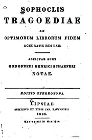 Cover of: Sophoclis tragoediae
