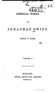 Cover of: The poetical works of Jonathan Swift