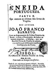 Cover of: Eneida portugueza