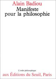 Cover of: Manifeste pour la philosophie