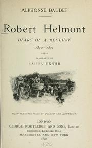 Cover of: Robert Helmont