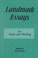 Cover of: Landmark essays on voice and writing