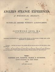 Cover of: An angler's strange experiences