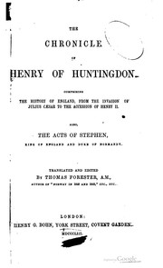 Cover of: The chronicle of Henry of Huntingdon