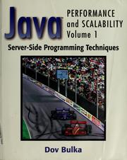 Cover of: Java performance and scalability