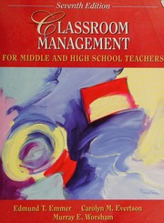 Cover of: Classroom management for middle and high school teachers
