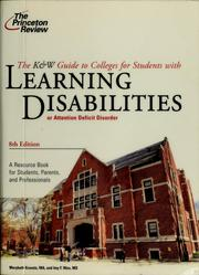 Cover of: The K & W guide to colleges for students with learning disabilities or attention deficit disorder