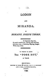 Cover of: Lodon and Miranda