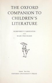 Cover of: The Oxford companion to children's literature