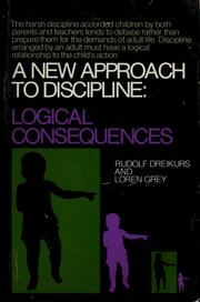 Cover of: A new approach to discipline