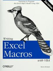 Cover of: Writing Excel macros with VBA