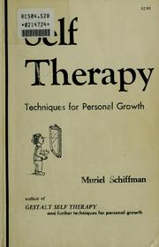 Cover of: Self-therapy techniques for personal growth