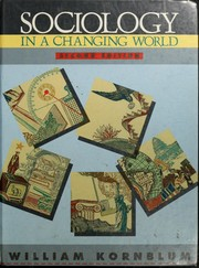 Cover of: Sociology in a changing world