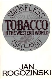 Cover of: Smokeless tobacco in the western world, 1550-1950