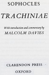 Cover of: Trachiniae