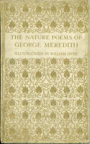 Cover of: The nature poems of George Meredith