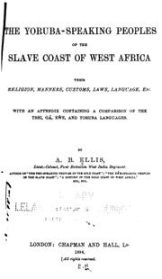 Cover of: The Yoruba-speaking peoples of the Slave Coast of West Africa